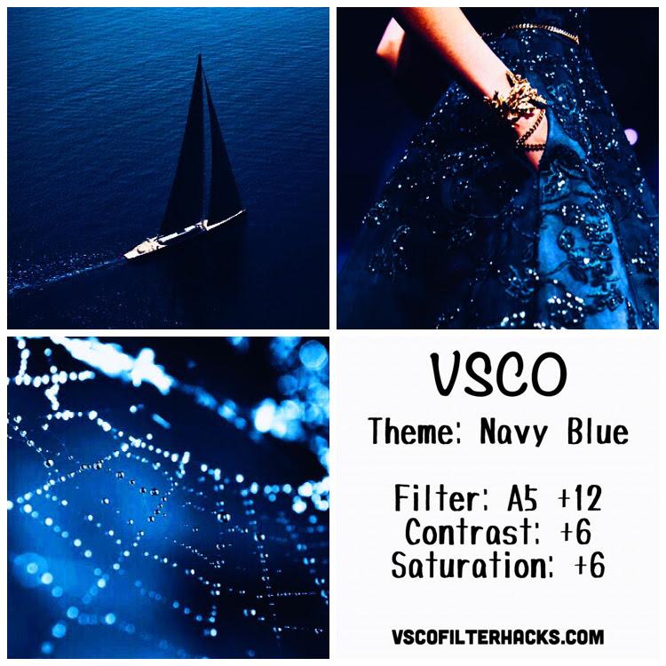 Navy Blue Instagram Feed Using VSCO Filter A5