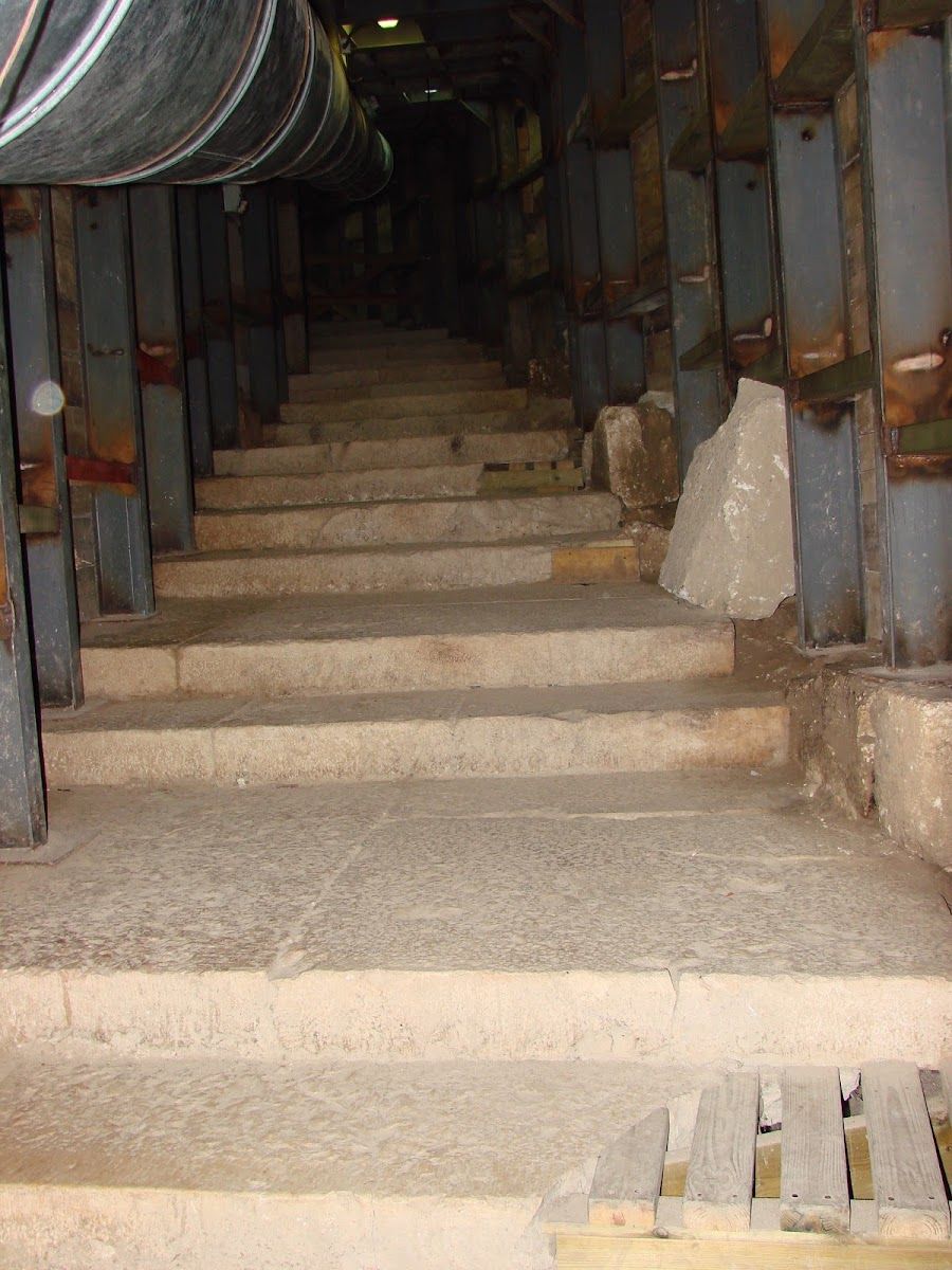 Steps Leading from Pool of Siloam Inside David's City that Lead to the Temple Mount