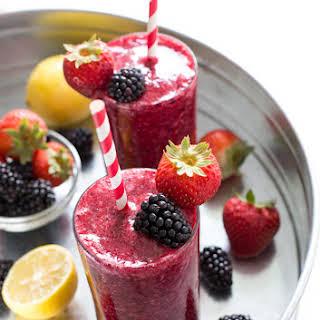 Frozen Mixed Berry Lemonade.