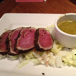 Seared Ahi Tuna with Wasabi Vinaigrette.