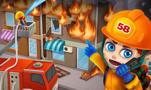 Super Kids Fireman Rescue Game
