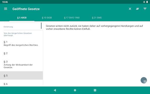 Lawdroid AT – Österreichische Gesetze und EU-Recht screenshot 19