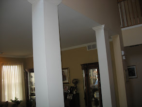Photo: (Before) Dash' s Foyer drywalled square pillars Lumberton, NJ
