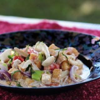 Mushrooms, Tofu And Vegetables In Coconut Milk