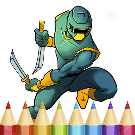 Ninja Coloring Book for Boys