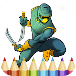 Ninja Coloring Book Game Icon