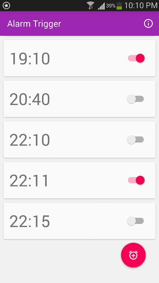 Alarm Trigger for CUT-IN- screenshot