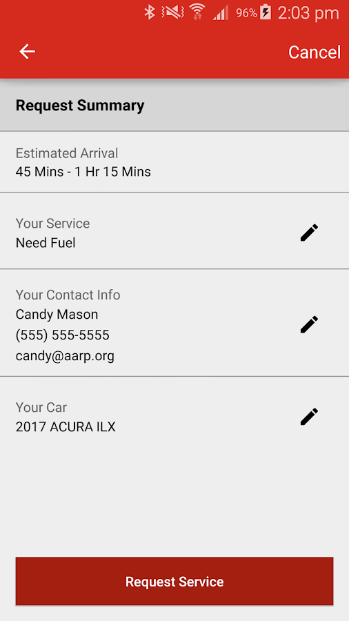 AARP Roadside from Allstate- screenshot