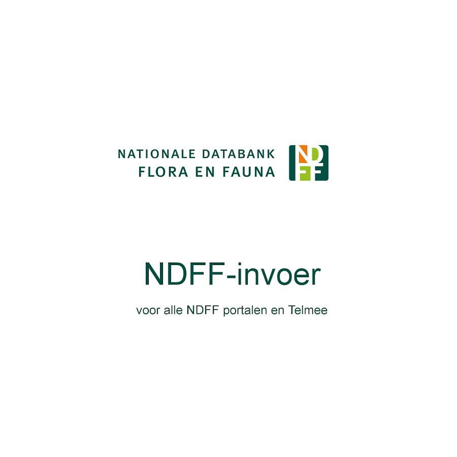 NDFF invoer- screenshot