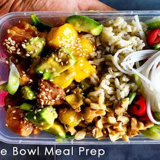 Tuna Poke Bowl Meal Prep.