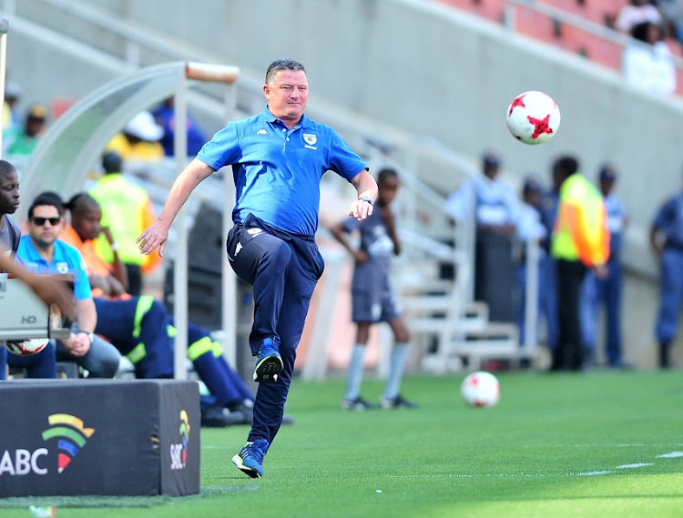 Gavin Hunt, coach of Bidvest Wits during the Absa Premiership 2017/18 football match between Baroka and Bidvest Wits at Peter Mokaba Stadium.