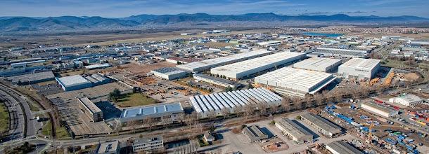 Vue aérienne de l'usine