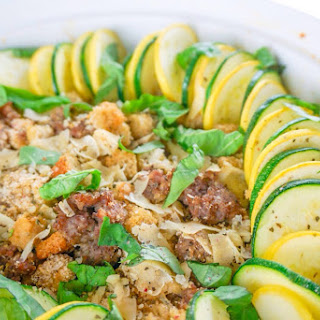 Zucchini Sausage Summer Casserole.