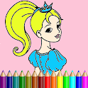 Princess Coloring Book New For Kids icon