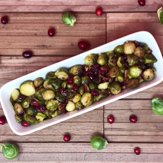 Roasted Brussels Sprouts, Cranberries, and Pecans with Balsamic Vinegar Recipe
