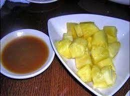 Pineapple With Caramel Sauce
