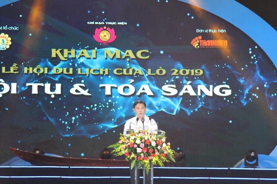 Đồng chí Thái Thanh Qúy, Chủ tịch UBND tỉnh phát biểu khai mạc Lễ hội Du lịch Cửa Lò 2019