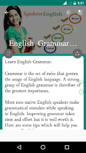 Spoken English for beginners- screenshot thumbnail