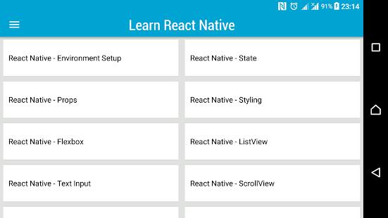 Learn React Native - náhled