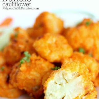 Oven Baked Buffalo Cauliflower.