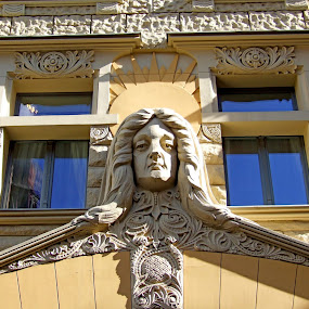 by Oleg Verjovkin - Buildings & Architecture Architectural Detail ( riga, old town, latvia )