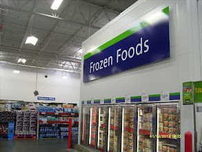 Photo: Lots of delicious looking items in the frozen food section!