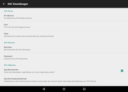 shc SmartHome Control screenshot 8