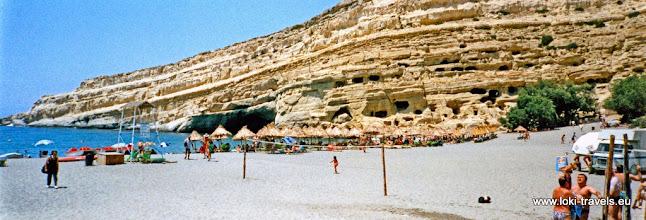 Photo: 1995-07-06. Matala.  www.loki-travels.eu