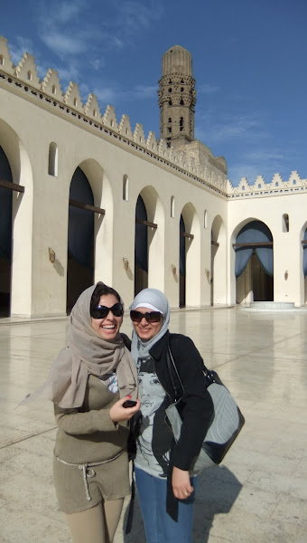 """Photo: The sanctuary's most impressive features are its minarets, the oldest """"surviving"""" minarets of all Cairo, and the mosque's spectacular entrance resembling a propylon which is more of an Ancient Egyptian architectural feature."""