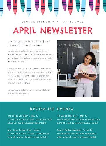April Newsletter - Newsletter Template