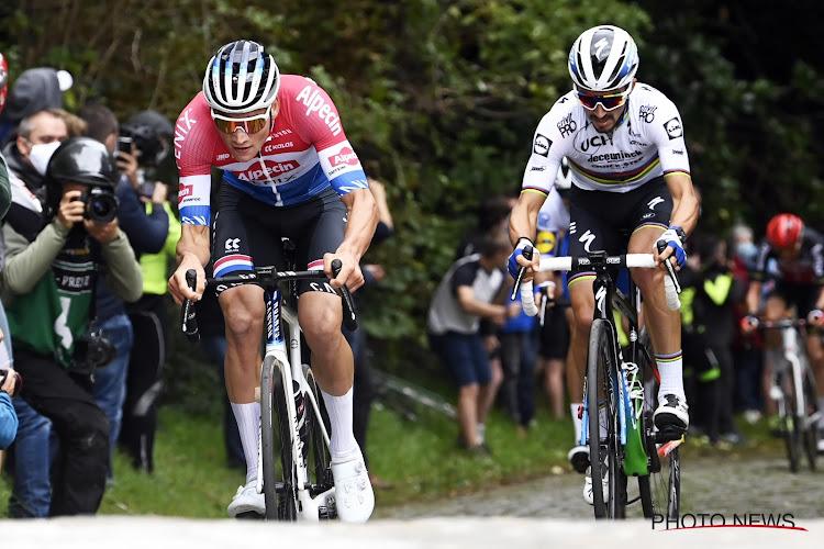 HERBELEEF: Alaphilippe draait de rollen om en gaat Van der Poel dit jaar wél vooraf in Brabantse Pijl!