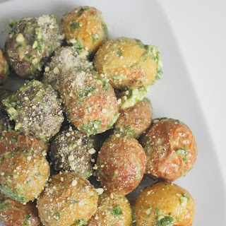 Roasted Potatoes with Basil Butter