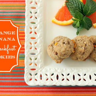 Orange Banana Breakfast Cookies