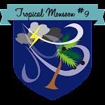 Button Tropical Monsoon #9
