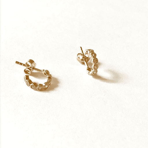 Boucles d'oreilles mini créole strassée