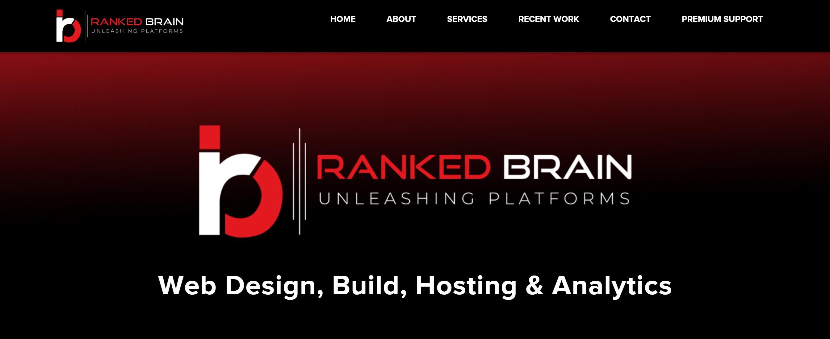 Ranked Brain reviews | Web Design at 14949 W 124th Terrace - Olathe KS