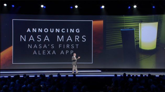 Tom Soderstrom, IT CTO of NASA's Jet Propulsion Lab announces NASA Mars at AWS re:invent. Image: SUPPLIED