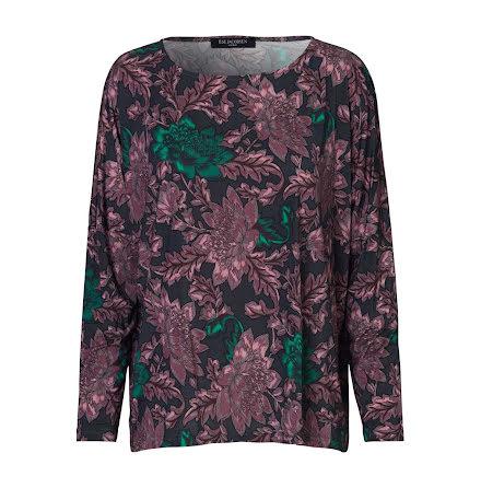Ilse Jacobsen blouse flower eggplant