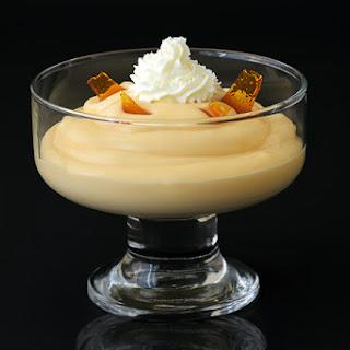 Caramel Pudding with Caramel Shards.