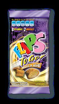 Cereal Flips Dulce De   Leche To Go Paquete X28G.