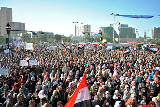 Photo: Another view of Tahrir Square.