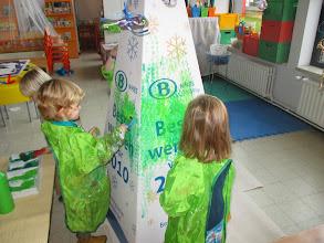 Photo: pyramide kerstboom stap 1: groen maken