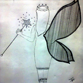 My Drawing! <3 #ANGEL :-* ;-) :-P :-D :-) by Tejas SHinde - Drawing All Drawing