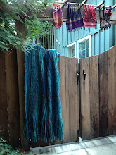 "Photo: my ""surfs up"" mohair and  hand dyed blanket"