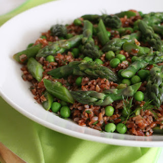 Asparagus, Peas and Dill Salad with Camargue Rice.