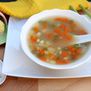 Slow Cooker Sweet Corn Vegetable Soup.