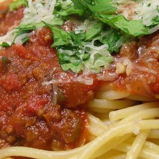 Spaghetti Sauce with Ground Beef.