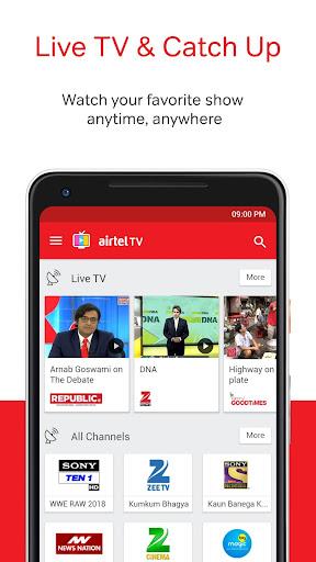 Airtel TV: Movies, TV series, Live TV 1.10.2 screenshots 1