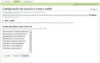 Photo: I18n y l10n al Español del producto PloneMeeting - Configuración de reunión - Editar opción Copias