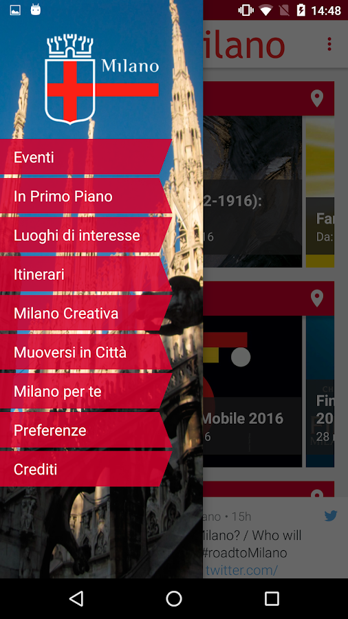 VisitMilano- screenshot